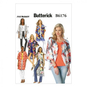 Butterick Ladies Easy Sewing Pattern 6176 Kimono Tops in 6 Styles