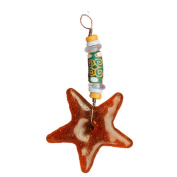 Global Craft Strength Star Ornament Amber - Global Mamas