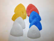 Triangle Tailor's Chalk 10 Piece Assorted Colours White Yellow Red Blue
