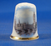 Porcelain China Collectable Thimble - Houses of Parliament London - Free Gift Box