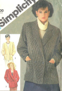 Simplicity vintage 1980s sewing pattern 6547 double breasted jackets - Size 14