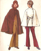 Simplicity vintage 1970s sewing pattern 9669 outerwear capes - Size S