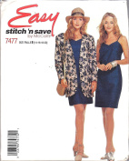 McCalls Easy Stitch N Save Sz 14-20 Jacket and Dress Pattern 7477