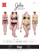 Jalie 3671 Gigi Bikini Two Piece Swimsuit Swim Suit Swimming Sewing Pattern