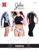 Jalie 3668 Swim Shirt Rash Guard Raglan Tee Sportswear Sewing Pattern 3668