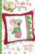 Polka Dot Mitten Christmas Pillow Embroidery Pattern by Meg Hawkey From Crabapple Hill Studio #447 37cm x 36cm