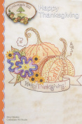 Happy Thanksgiving Embroidery Pattern by Meg Hawkey From Crabapple Hill Studio #341 19cm x 17cm