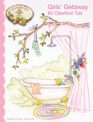 Girls' Getaway #2 Clawfoot Tub Embroidery Pattern by Meg Hawkey From Crabapple Hill Studio #6490cm - 17cm x 22cm