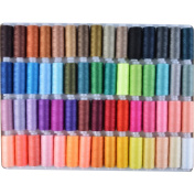 Paxcoo 60 Assorted Colour Polyester Sewing Thread Spools 250 Yards Each