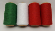 4 Tubes Spun Polyester Serger, Quilting & Sewing Thread 4 Tubes 1000 Yds. Each - HOLIDAY Thread!