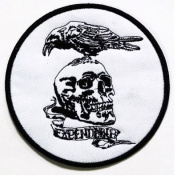 Ukrainian Army Tactical Patch Death to Enemies Skull Crow Raven Morale Hook and loop Patch