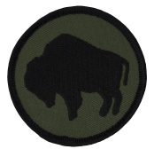 92nd Infantry Buffalo Soldiers Patch - 6.4cm Diameter Round Embroidered Patch