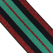 2yard 47mm Green Red Elastic Stretch Ribbon Band Lace Trim Tape Webbing Belt Strap Craft Sewing Accessories T2405