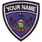 Pennsylvania Custom Crest Embroidered Sew on Patch