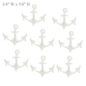 White Tiny Anchors Embroidery Sew on Appliques