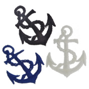 45 pcs Nautical Rope Anchor Applique Sew On Embroidered Patches