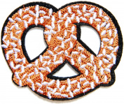 Sweet Pretzel Bread Fast Food Cooking Chef Kid Baby Jacket T-shirt Patch Sew Iron on Embroidered Applique Sign Badge Costum Gift