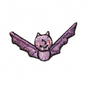 ID 0926C Cute Bat Fly Patch Halloween Kids Craft Embroidered Iron On Applique