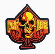 Live Free Ride Free Skull patch Novelty patch Symbol Jacket T-shirt Patch Sew Iron on Embroidered Sign Badge Costume.8.9cm x 10cm .