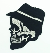 Cap Skull patch Novelty patch Symbol Jacket T-shirt Patch Sew Iron on Embroidered Sign Badge Costume.7.6cm x 6.4cm .