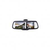EchoMaster PMM-7333-PL 19cm FACTORY MOUNT Rearview or Sideview MIRROR MONITOR WITH 3 VIDEO INPUTS, 3 TRIGGERS AND ADJUSTABLE PARKING LINES
