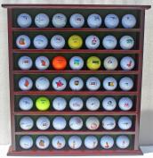 49-Ball Display Case Cabinet Rack, No Door, Mahogany Finish GB20-MAH