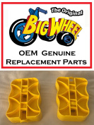 Yellow PEDALS for The Original Big Wheel Spin-Out Racer/ Mighty Wheels, Original Replacement Parts