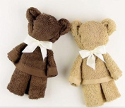Newborn Baby Towel Bears Hamper Gift Set - Handcrafted by The Gift Box