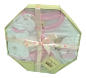Baby Shower Gift - 6 Piece Baby Girl Clothes Set Pink Boxed