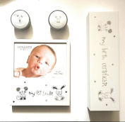 Impressions 4 Piece Baby Gift Set 15cm x 10cm, FREE baby fun rattle Included