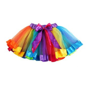 Infant Baby Girls Rainbow Bowknot Tutu Skirt Dress Pettiskirt, 8m Toddler Christening Gowns Skirt , Dance Dress for party Wedding