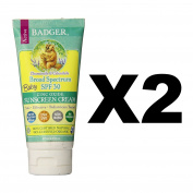 Badger SPF 30 Baby Sunscreen Cream 90ml Tube Waterproof Chamomile