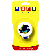 Sure Baby Clip-On Pacifier Dummy Soother Holder Carrier - Cartoon Shark Design