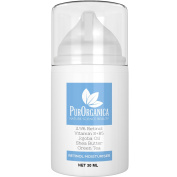 PurOrganica Retinol Moisturising Cream - Premium 2.5% Retinol Face Anti Ageing Cream With Vitamin E + B5, Jojoba And Shea Butter - Firming Cream For Wrinkles, Fine Lines, Acne And Dark Spots - It Works Or Risk Free .