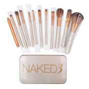 Makeup Brushes Set - Professional Bamboo Handle Kabuki Makeup Brush Foundation Blending Blush Powder Brush Cosmetics Brushes Set with Box by NAKED3