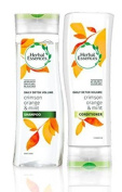 Herbal Essences Daily Detox Volume shampoo and conditioner with crimson orange and mint. Bundle with Exclusive Beauty tips.