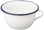 "ibili ""Blanca"" Enamelled Steel Chamber Pot, White/Blue, 3.5 Litre"