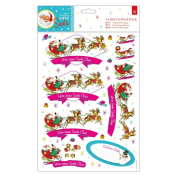 Love Santa Papermania Christmas Craft Collection - A4 Decoupage Craft Pack