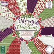 Premium Craft Cardstock First Edition 12x12 Designer Paper Pad - Merry Little Christmas