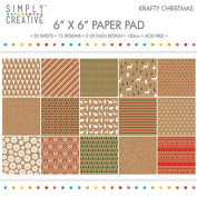 Premium Craft Paperstock Simply Creative 15cm x 15cm Krafty Christmas Scrapbook Paper