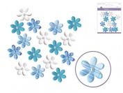 Craft Decor Handmade Paper Floral Embellishments Lilacs - per pack of 16