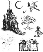 Tim Holtz Cling Stamps 18cm x 22cm -Haunted House