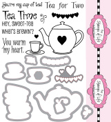 The Stamps of Life Clear Stamps & Dies, tea4two and Tea set dies