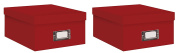 Pioneer Photo Albums Photo Storage Box Bright Red - B1S-BRRE 2 pack