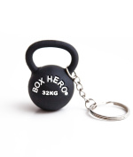 Hero Mini Kettlebell 32kg Black PVC Keyring for True Heroes of Box