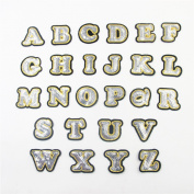26pcs/set Number Alphabet Letter Patches Embroidered Iron On Patch For Clothing Badges Paste For Bag Pants Sewing