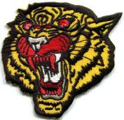 7.6cm x 8.3cm Tiger cat puma jaguar lion cheetah animal wildlife embroidered applique iron-on patch
