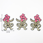 3pcs/set Iron on or Sew on Flower Patches, Flower Applique Patches For Jeans Jackets, Embroidery Patches,Embroidery Applique Patch, 16cm X 12cm