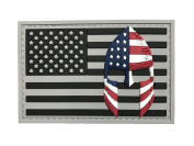 USA Flag with Spartan Helmet (Molon Labe) Hook and loop 3D PVC Rubber Morale Patch, Represent American Pride, Perfect for Tactical Operator Caps, Hats, Jackets, Bags, Packs and Military Apparel