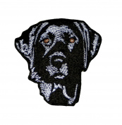 Black Lab Labrador Retriever 100% Embroidered Iron On Patch 7.6cm